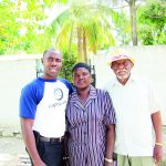 Jean Pierre-Louis with family members in Fonfrède, Haiti.