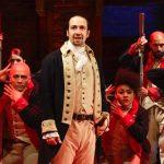 On stage as Alexander Hamilton.