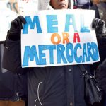 The campaign calls for reduced-price Metrocards.