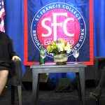 Sotomayor was interviewed by her former law clerk Sparkle Sooknanan (right).