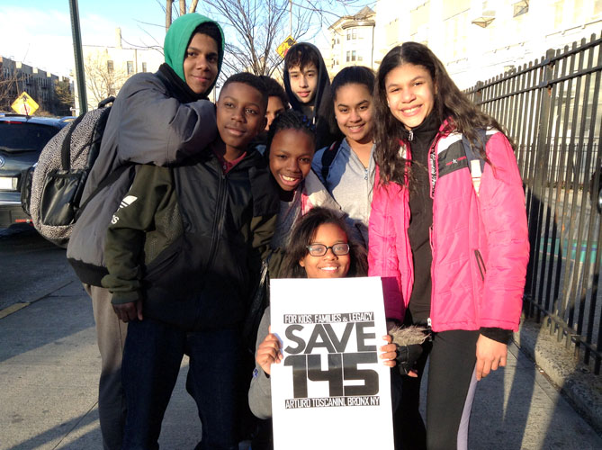 Students rallied against the school's closure.