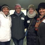 From left to right: Volunteers Dominique Butts, Leah Phillips, Maggie Grady, and Jennifer Lewis at the beginning of the night.