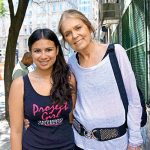 Gloria Steinem with Girl Be Heard Company Member Isabella Olaguera.