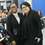 U.S. Supreme Court Associate Justice Sonia Sotomayor visited with students.