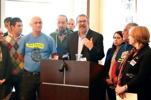 """We are beginning to see the expansion of workers' exploitation,"" said 32BJ President Hector Figueroa."