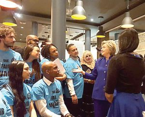 Restaurant workers met with Hillary Clinton in 2016.