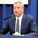 """""""These drugs are devastating lives in every kind of family in every borough,"""" said Mayor Bill de Blasio."""