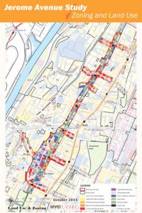The study examined a two-mile stretch of Jerome Avenue; this map was published in 2014.