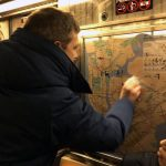 Hateful vandalism has appeared on city subways.