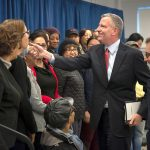 """The people won and the landlords lost,"" said de Blasio. Photo: Ed Reed."