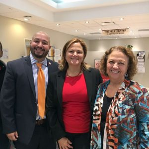Hernández (far right) hosted a site tour with Councilmembers Rafael Salamanca (far left) and Melissa Mark-Viverito in October 2016.
