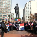 Residents gathered in Juan Pablo Duarte Square on Canal Street and Sixth Avenue to mark the Dominican Day of Independence on Mon., Feb. 27th.