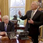 CEO Tom Rutledge (right) met with President Donald Trump in the Oval Office.