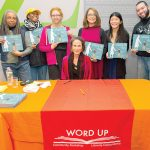 The writer meets with the Word Up Bookshop team.