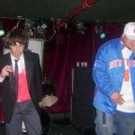 On stage at The Delancey with Tsi Labrev (circa 2008).
