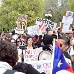 The rally was held in Union Square.