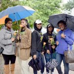 Students from the nearby Theater Arts Production Company School were in attendance.