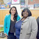 Commissioner Penny Abeywardena (left) with NYC Junior Ambassadors Program Director Aissata Camara.
