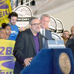 """When we fight, we win,"" said 32BJ President Hector Figueroa."
