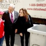 """Identity theft is one of the most common types of fraud,"" said Finkel (center, in black) with DiNapoli and New York Associate State Director Yvette Martínez (in red)."