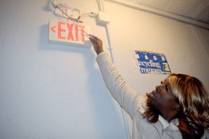 """It's not safe,"" said Shaquan, pointing to broken emergency lights."