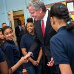 """They reach the whole child and the whole family,"" said Mayor Bill de Blasio."