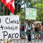 The rally was held in solidarity with UPR students.