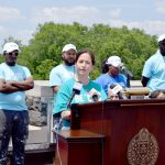 """""""We are putting people back to work while improving the environment,"""" said Sustainable South Bronx's Jennifer Mitchell."""