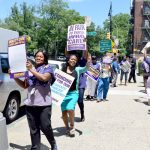The rally was held on Allerton Avenue.