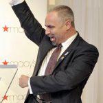 Thomas Krever, Hetrick Martin Institute CEO, celebrates.