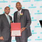 Advocate Brett Scudder (right) was honored.