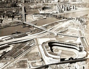 1951 Yankee Stadium and Polo Grounds Aerial view. Photo: Facebook - Old Images of the Bronx.