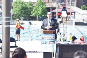 State Senator Gustavo Rivera touted the program.