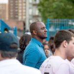 NYCFC Head Coach Patrick Vieira keeps keen watch.