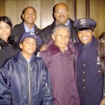 A photo of fallen NYPD officer Miosotis Familia with her family.