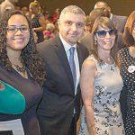From left: Assemblymember Carmen De La Rosa; New York State AFL-CIO President Mario Cilento; NYSNA Executive Director Jill Furillo; and State Senator Marisol Alcántara.