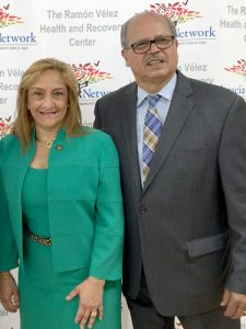 """We are always on the ground,"" said CEO Raúl Russi, here with State OASAS Commissioner Arlene González-Sánchez at the center opening."