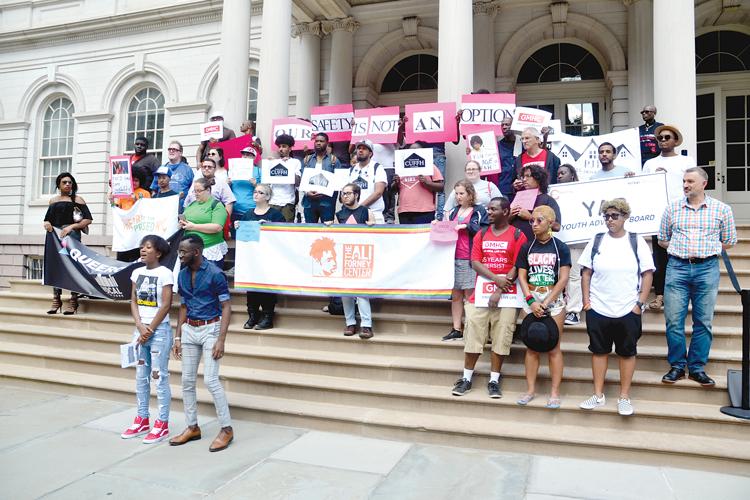 At City Hall.