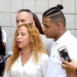 Hernandez's mother, Jessica Pérez, and his brother.