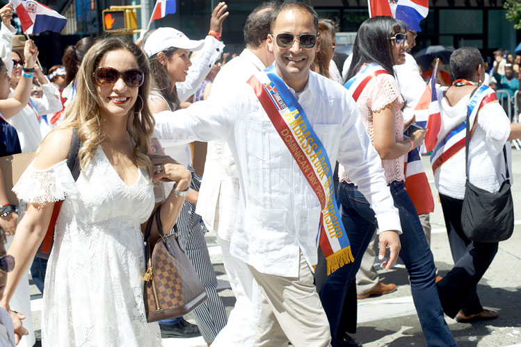CSA Vice President Henry Rubio, the Ambassador of Leadership, marches with his wife.