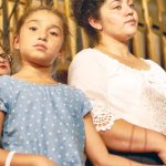 Amanda with her seven-year-old daughter Daniela.