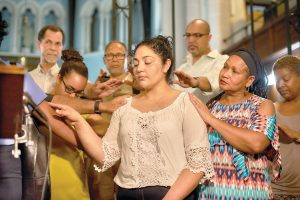 """""""I am deeply grateful to all the community,"""" said Amanda Morales-Guerra (in white)."""