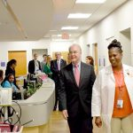 U.S. Secretary of Health and Human Services visited a health center in Washington, D.C.