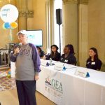 Fariña hosts a College Day event this past January.