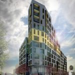 When complete, the MLK Plaza will be 12 stories.