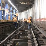 Trash, says the MTA, is the cause of extensive train delays‎.