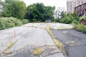 This empty lot will be developed into Sydney House.