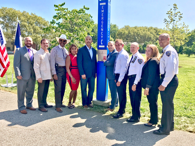 The boxes were unveiled in Soundview Park.
