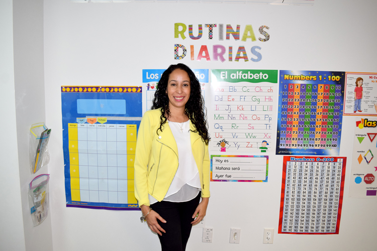 Giselle Almonte is the Spanish teacher.