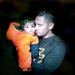 Jesús Laluz and his two-year-old son Adrien. Photo: William Alatriste | NYC Council